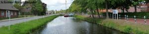 Aufnahme des Kanals und der Kreuzung Großefehn