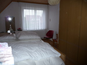 Schlafzimmer, Doppelbett der FeWo