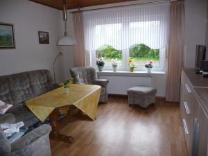 Blick in das Wohnzimmer und auf die Einrichtung